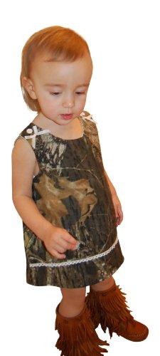 Mossy Oak Camo Dress Infant Baby Toddler Girls Camouflage Jumper Dress & Panty 6M-4T (3T, Mossy Oak)