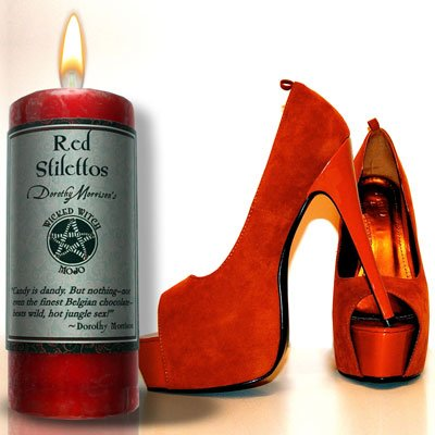 Wicked Witch Mojo Red Stilettos Candle by Dorothy Morrision
