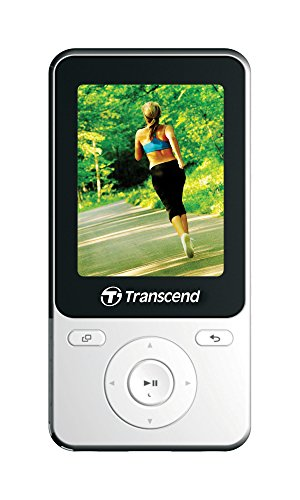 Transcend 8GB MP710 Digital Music Player w/FM Radio, G-Sensor Step Counter - White Edition (Transcend Player Music)