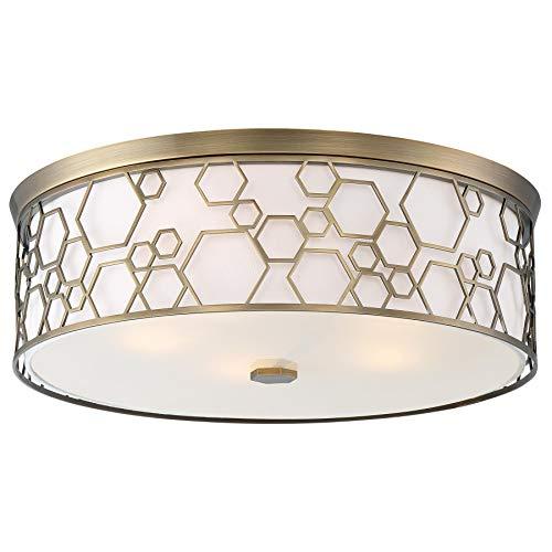 (Minka Lavery Flush Mount Ceiling Light 1845-108 Low Profile Fixture, 5-Light 200 Watts, Polished Satin Brass)
