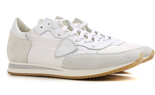 Scarpa Model 1101 Mod Donna In Colore Sneakers Pelle Philippe E Trld Tela Bianco Tropez F5dwqH1