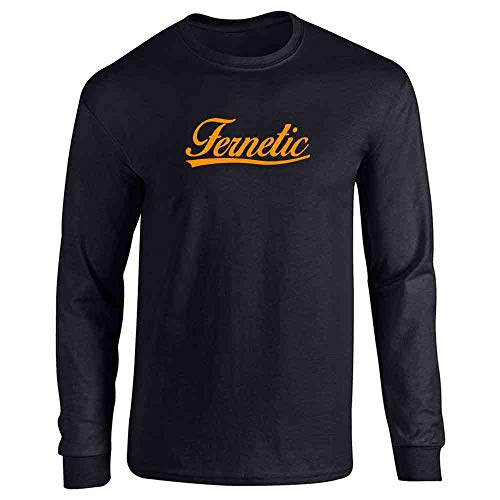Pop Threads Fernetic Fernet Graphic Black XL Long Sleeve T-Shirt