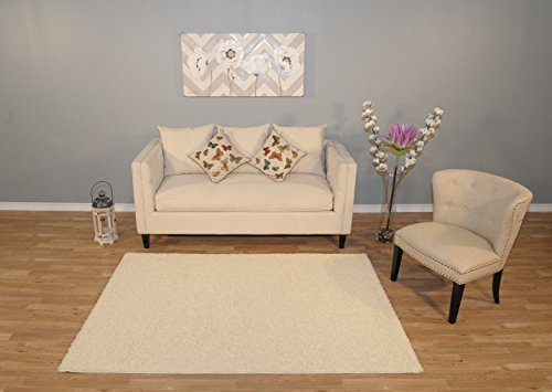 Solid Color Stains (Ottomanson Cozy Color Solid Shag Contemporary Living and Bedroom Soft Shaggy Area Kids Rugs (X 9'10