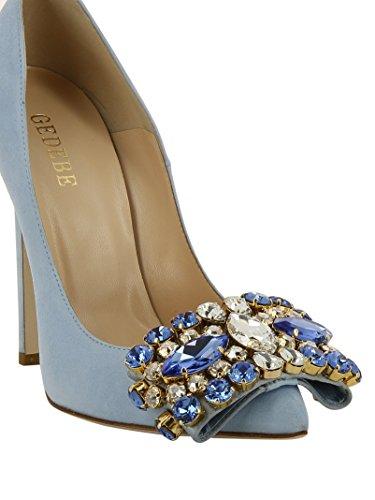 para celeste azul azul celeste azul Gedebe mujer vestir Zapatos de q41wTAp