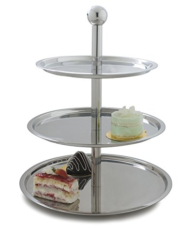 Carlisle 609170 Allegro Three Tier Stainless Steel Display Stand