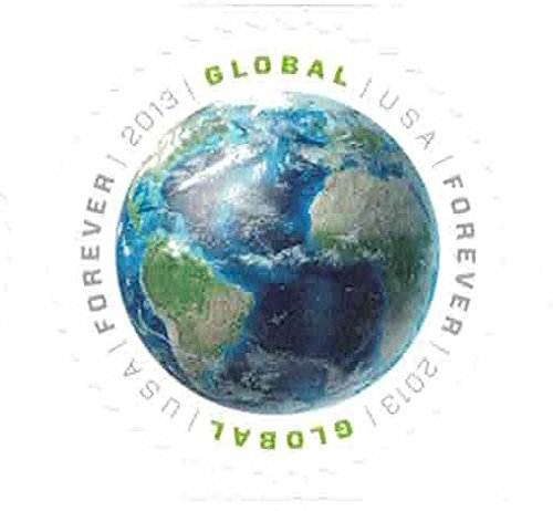 USPS Global Forever Sheet 20 - Earth Stamps (original global forever - International First Class Canada Usps To