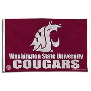Brand New Washington State Cougars NCAA 3x5 Flag