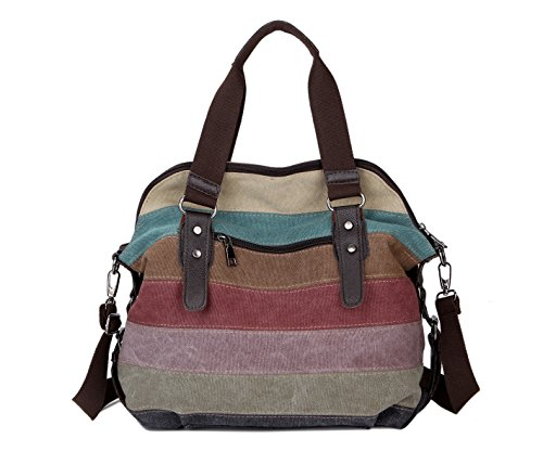 Handle Canvas Bag Retro Women Top Hobo Tote Body Handbags Cross pO6qaBvw