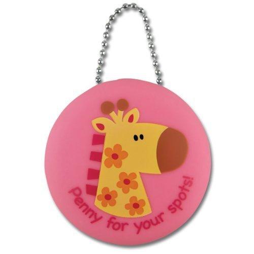 (Stephen Joseph Girls' Silicone Penny Pinche Coin Purse, Pink Giraffe)