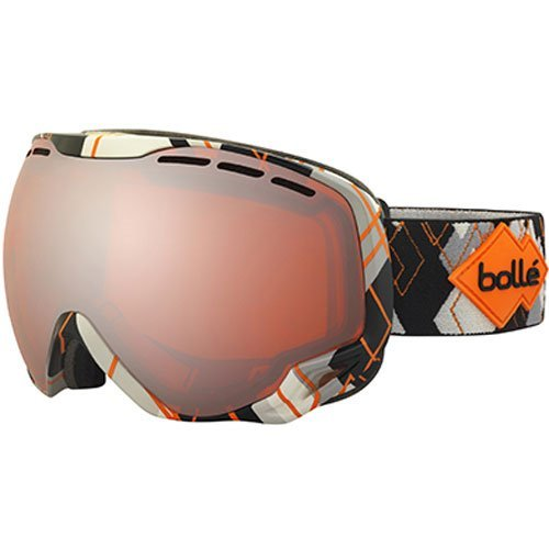 Bolle Emperor Goggles, Grey/Orange Argyle, Vermillion Gun - Vermillion Goggles Bolle Ski Modulator
