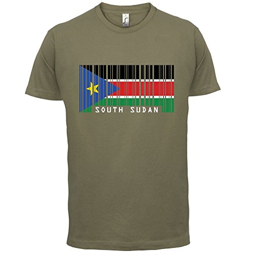 South Sudan / Südsudan Barcode Flagge - Herren T-Shirt - Khaki - M