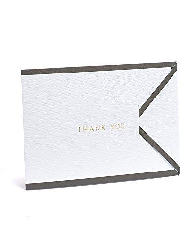 White with Black Border Tri-Fold Thank You Cards Mi Borders
