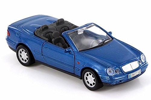 Blue Car Metallic Diecast (Welly Mercedes-Benz CLK, Metallic Blue 49745D - 1/38 Scale Diecast Model Toy Car (Brand New but NO BOX))
