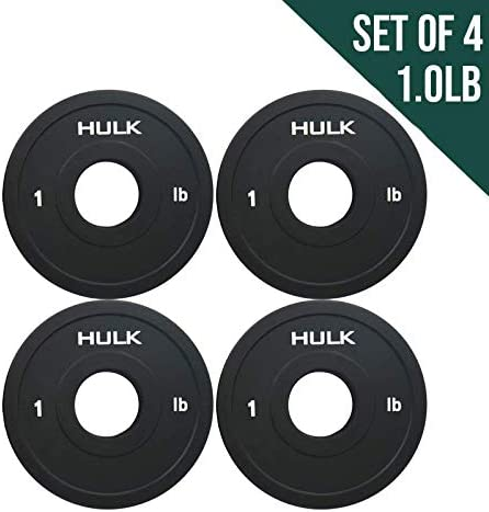 Hulk Olympic Fractional Plates by Wick Wire – Micro Weight Plates for Barbell or Dumbbell