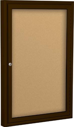BestRite 3 x 2 Feet Indoor Enclosed Bulletin Board Cabinet, Natural Cork (Enclosed Bulletin Board Cabinet)