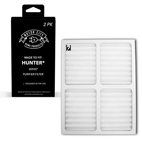 Motor City Home Products Hunter 30920 Compatible Air Purifier Filter, Brand Replacement (2) by Motor City Home Products
