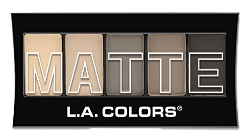 L.A. Colors 5 Color Matte Eyeshadow, Nude Suede, 0.08 Ounce