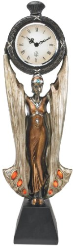 """18"""" Classic Art Deco Collectible Muse Sculpture Statue Clock/Gift Item"""