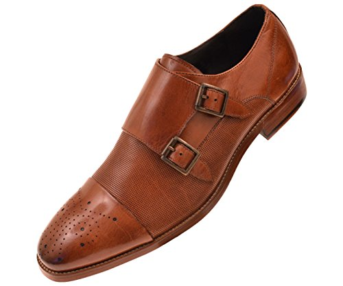 Asher Green Mens Dress Shoes, Genuine Calf Leather Cap Toe,