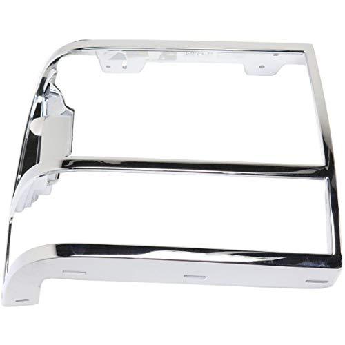 New Head light Headlight Door Headlamp Bezel Passenger Right Side Chrome Bronco