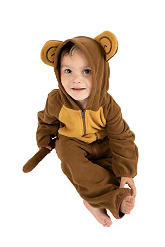 Monkey Costume For Toddler Girl (Cuddle Club Fleece Baby Bunting Bodysuit for Newborn to 4T - Infant Winter Jacket Coat Toddler Costume -)