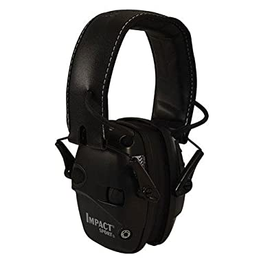 Howard Leight by Honeywell R-02524 Impact Sport Sound Amplification Electronic Earmuff, Black