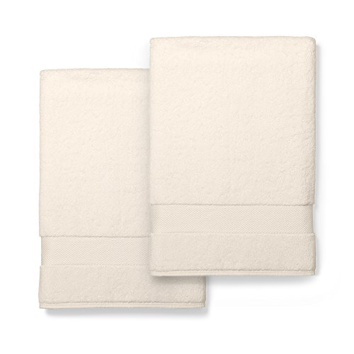 Boll & Branch Luxury Bath Sheets | Fair Trade Organic Cotton Large Bath Towels | Natural, 2 Pack