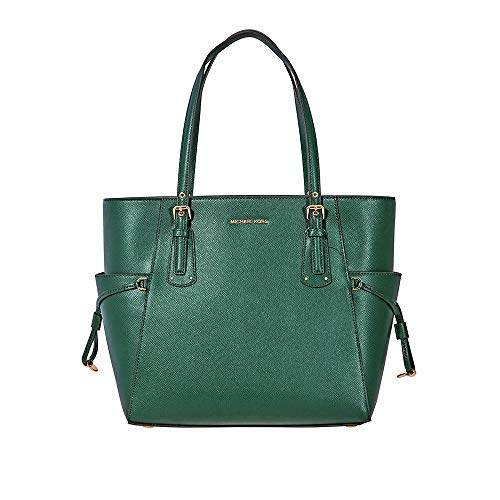 Textured Crossgrain Leather Tote - Racing Green ()