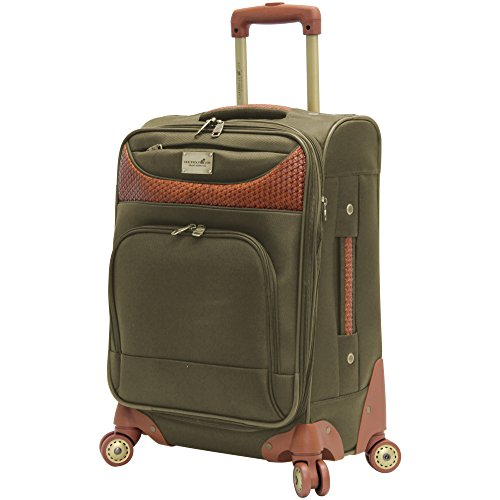 Price comparison product image Caribbean Joe 20'' Carry-On Spinner Luggage OLIVE GREEN 20""