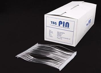 5.000 Kunststofffäden Heftfäden Fein TagPin transparent 65mm