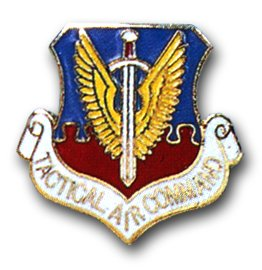 US Air Force Tactical Air Command Lapel Pin