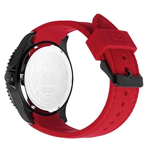 Ice-Watch – ICE stål svart röd – armbandsur för män med silikonrem – 015782 (stor)