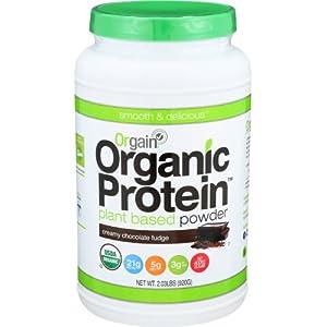 Orgain Organic Plant Based Protein Powder, Creamy Chocolate Fudge – Vegan, Low Net Carbs, Non Dairy, Gluten Free, No…