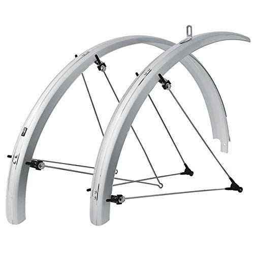 SKS B42 Commuter 2 Bicycle Fender Set (Silver, Fits Tire Sizes 700 x 25 )