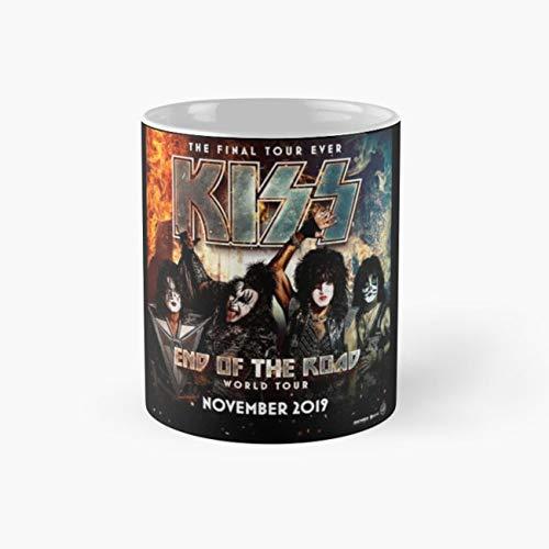 Kiss Tour Poster 2019 Mug, end of the road tour 2019 Funny Mugs, 11 Ounce Ceramic Mug, Perfect Novelty Gift Mug, Tea Cups, Funny Coffee Mug 11oz, Tea Mugs ()