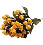 DAYAN Mini Fiori Artificiali Rosa Primavera Fioritura in Seta Decorazione per Cerimonia Matrimonio Party Due mazzo