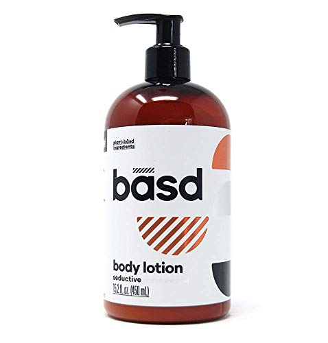 (Basd | Organic Body Lotion for Dry Skin | Seductive Sandalwood | Natural Skin Care | Aloe Vera | Shea Butter | 15.2 oz Bottle)