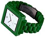 HEX HX1015-GREN Icon Plastic Link Watch Band for iPod Nano 6G-Green