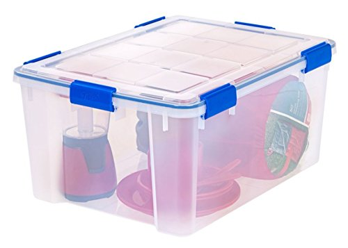 Ziploc(R) Weathertight Storage Box, 60-Quart, 11 1/5in.H x 17 4/5in.W x 23 3/5in.D, Clear