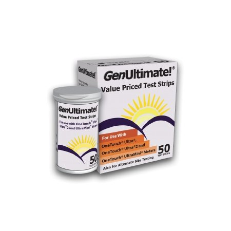 GenUltimate! Blood Glucose Strips 200 count- 4boxes of 50