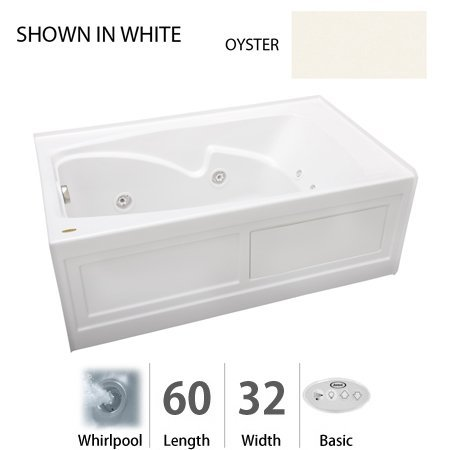 "Cetra 60"" x 32"" Whirlpool Bathtub Color: Oyster"