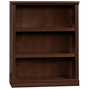 Sauder 412808 3 Shelf Bookcase, L: 35.28″ x W: 13.23″ x H: 43.78″, Select Cherry finish