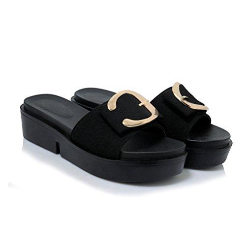 Jitian Donna sandali sandali Sabot sandali Donna Jitian Jitian Nero sandali Sabot Donna Nero Sabot Jitian Sabot Nero qZ7Swc