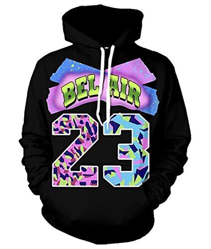 Swag Hoodies Hip Hip Air Bel Air 23 Print 3D Sweatshirt Long Sleeve Pullovers ()