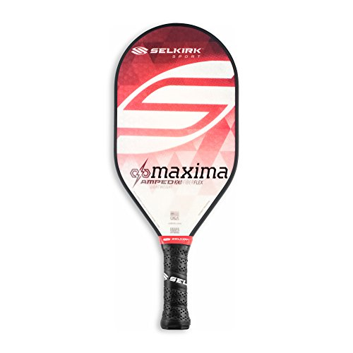 Selkirk AMPED Pickleball Paddles X5 Polypropylene Core with FiberFlex Face (Epic, Omni, Maxima, S2) (AMPED Maxima Lightweight - Ruby Red)