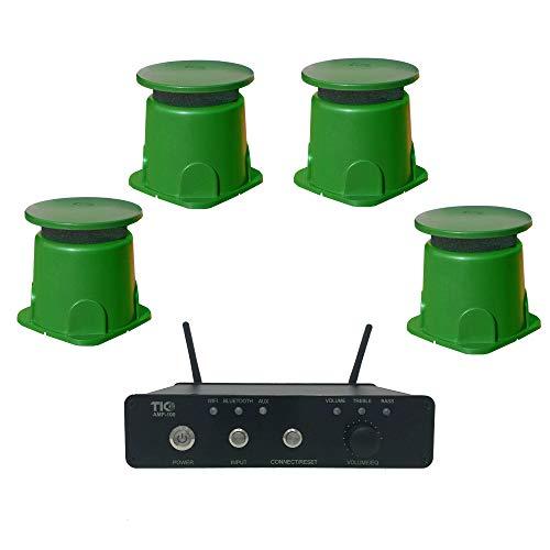 TIC Outdoor WiFi/Bluetooth Amplifier & Speaker Bundle (AMP100 & 4 GS3)