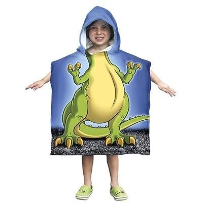Kids T-Rex Dinosaur Cotton Hooded Poncho Bath/Beach Towel
