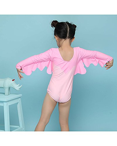 Delight Girls Swimsuits Long Sleeve Baby Girls Swimwear One Piece Clothing Pink 3-4 Years by Delight (Image #3)