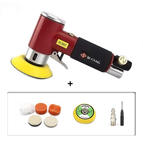 - Updated 2inch 3inch Mini Air Sander Mini Orbital Air Sander Air Dual Action Sander Air Polisher Kit for Auto Body Work (Red 2''3''air sander)