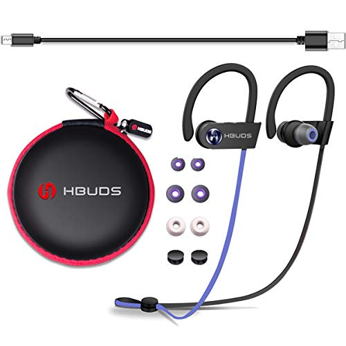 Wireless Earphone Bluetooth Headphone Sport Earbuds Waterproof Ipx7 Earhook in-Ear with Mic Noise Canceling Sweatproof Stereo Cell Hands-Free Call HiFi Headset for Workout Gym Running H1 (Purple)
